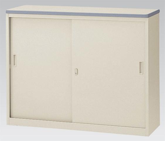 ハイカウンター NSH-12S W1200mm 120cm 鍵付き 棚 引戸書庫 引き違い戸 キャビネット ロッカー LOOKIT オフィス家具 インテリア