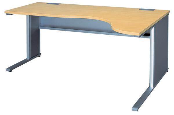 右ラウンドデスク L型デスク 平机 W1600mm ベルフィーノ Belfino ワークデスク デスクシステム オフィス 事務用 学習机 書斎机 FN-1612RR ルキット オフィス家具 インテリア