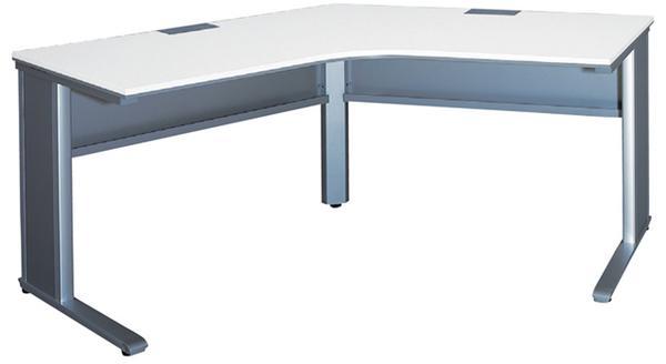 120°ブーメラン型デスク 平机 ベルフィーノ Belfino ワークデスク デスクシステム オフィス 平机 事務用 L型 オフィスレイアウト FN-120L