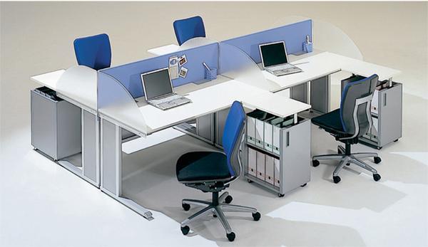 オフィスプラン 平机セット ベルフィーノ Belfino W1400mm デスクワゴン パネル パーテーション 事務用 オフィスレイアウト B ルキット オフィス家具 インテリア