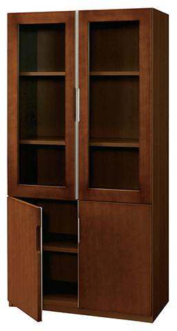 書棚 ブックラック 書庫 キャビネット 役員用家具 収納庫 ガラス戸 VP-39シリーズ VP-39BSH ルキット オフィス家具 インテリア
