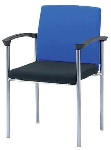 ミーティングチェア 肘付き 肘掛け 会社用 MC-4AM LOOKIT オフィス家具 インテリア
