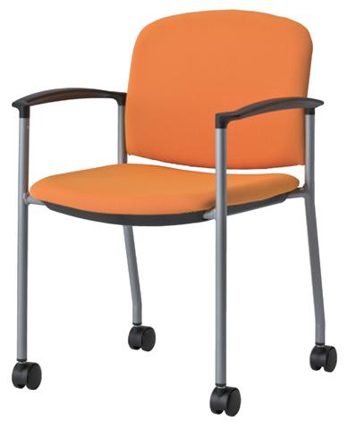 スタッキングチェア 肘付き キャスター 椅子 MC-500AC LOOKIT オフィス家具 インテリア