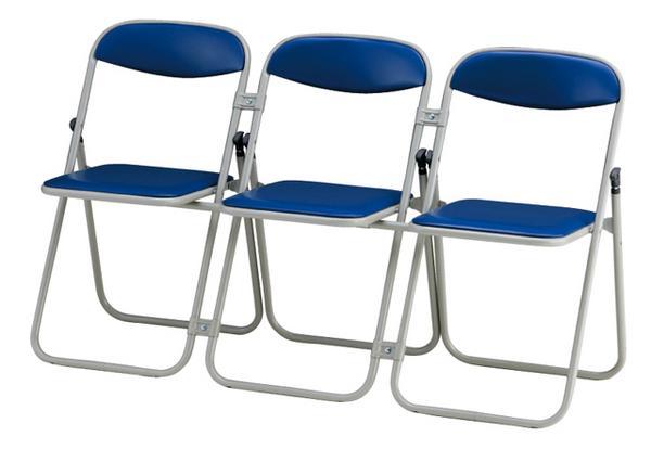 3連パイプイス 3個セット 連結椅子 いす SCF104-MX-3 LOOKIT オフィス家具 インテリア