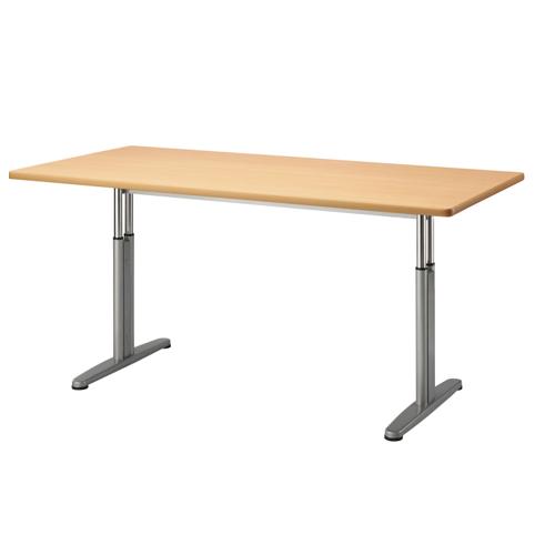 昇降テーブル 幅1800mm 奥行900mm 手動 ミーティングテーブル 会議テーブル ラウンジテーブル オフィス 福祉 介護施設 事務所 テーブル AZ-1890W