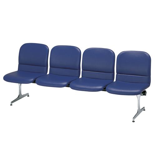【法人限定】 ロビーチェア 背付き 合成皮革 4人用 病院 待合室 いす オフィス ソファ RD-54L