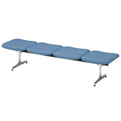 【法人限定】 ロビーチェア 背なし 4人用 病院 待合室 いす ソファ 合成皮革 RD-44L