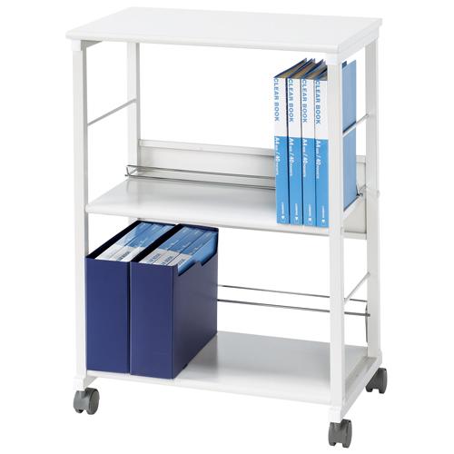 【法人限定】 ファイルワゴン 2段 A4ファイル キャビネット 書庫 書棚 本棚 オフィス 事務所 学校 図書館 KFW-20