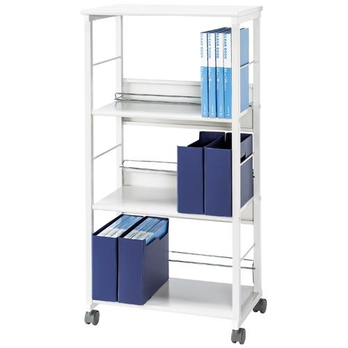 ファイルワゴン 3段 高さ1210mm 収納 書類 書棚 書庫 キャビネット キャスター付 KFW-40 LOOKIT オフィス家具 インテリア