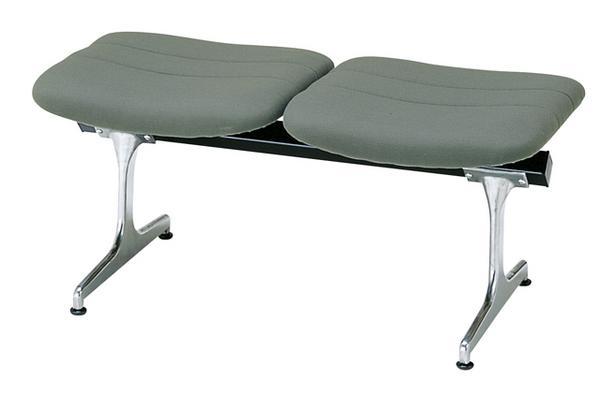 【法人限定】 ロビーチェア 2人用 布張り 病院 イス 座席 待合室 RD-42