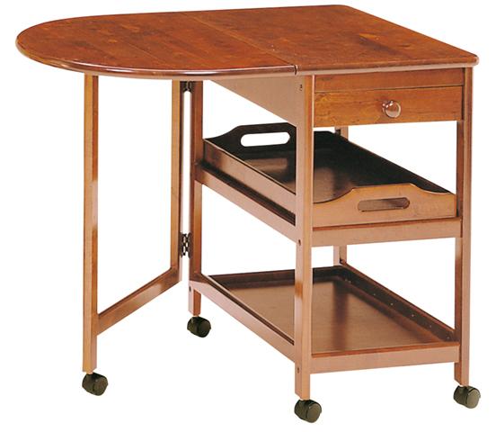 キッチンワゴン 天板可動式 テーブル付 収納台 KW-415 送料無料 LOOKIT オフィス家具 インテリア