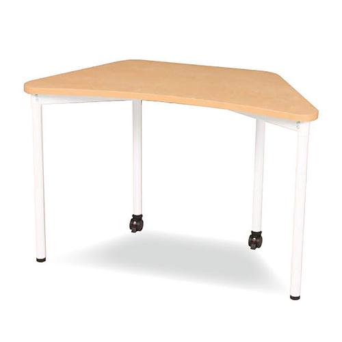 会議テーブル 台形テーブル 作業台 机 デスク テーブル 会議 施設 学校 スクール キャスター付き 勉強机 ミーティング 打ち合わせ 日本製 国産 ITD-720