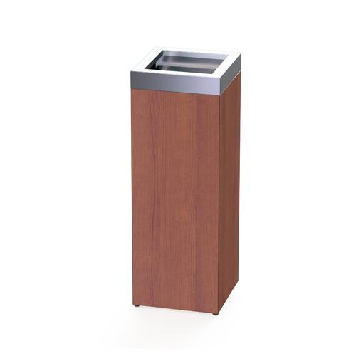 【法人限定】 ゴミ箱 オープン型 ウッド調 幅250mm 奥行250mm ダストボックス 屑入れ くずかご オフィス 待合室 喫煙所 木目調 店舗用品 オフィス用品 BWOP-250