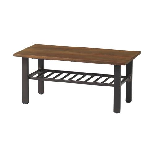 センターテーブル ローテーブル 角型テーブル 棚付きテーブル 木製天板 テーブル リビング エヴァンス シリーズ 北欧 おしゃれ EVS-CT90