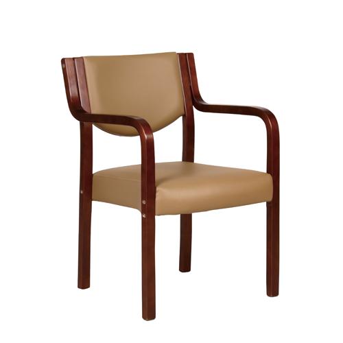 【4月1日10:00~2日9:59まで最大5千円OFFクーポン配布】 【 法人 送料無料 】 木製チェア ブラウンフレーム ダイニングチェア スタッキング ベージュ 介護 椅子 施設 おしゃれ スタッキングチェア 肘付チェア MC-510BR
