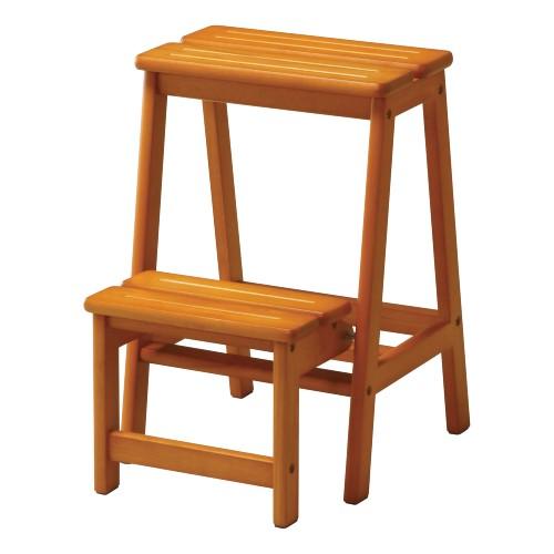 【最大1万円クーポン3/21 20:00~3/28 1:59】ステップチェア 2段 木製 はしご 脚立 踏み台 STC-2 ルキット オフィス家具 インテリア