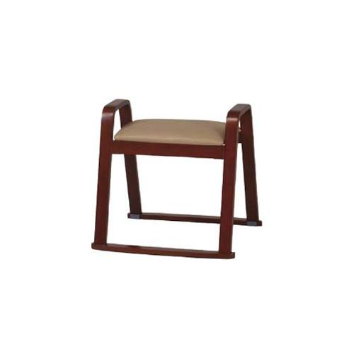 【4月9日20:00~16日1:59まで最大1万円OFFクーポン配布】 スツール 和室 畳で使えるチェア 座椅子 高齢者用 介護椅子 肘付スツール 合成皮革張り チェア イス スタッキングチェア 肘つき木製スツール W-525H