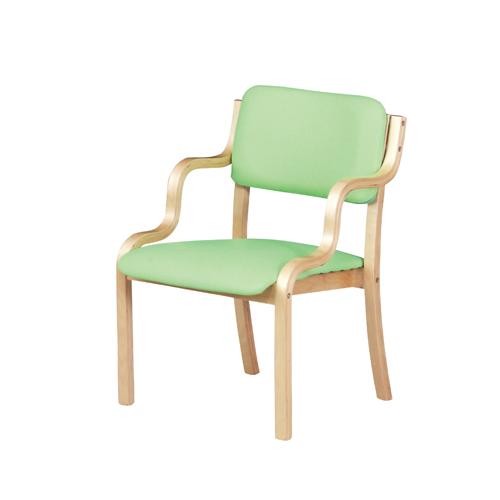 【4月9日20:00~16日1:59まで最大1万円OFFクーポン配布】 【 法人 送料無料 】 ダイニングチェア スタッキング 緑 ピンク 介護 椅子 木製 チェア イス 施設 スタッキングチェア 木製フレーム WC-560P