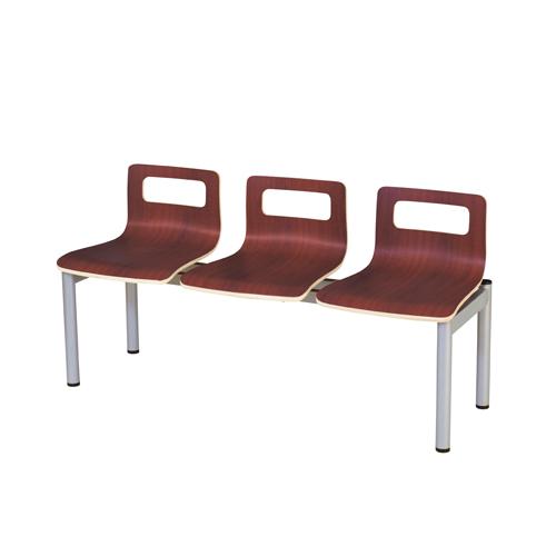 【法人限定】ロビーチェア 3人掛け パッド無しタイプ ロビーベンチ 背付きベンチ オフィス家具 ロビー オフィス 事務所 チェア 送料無料 LBL-30