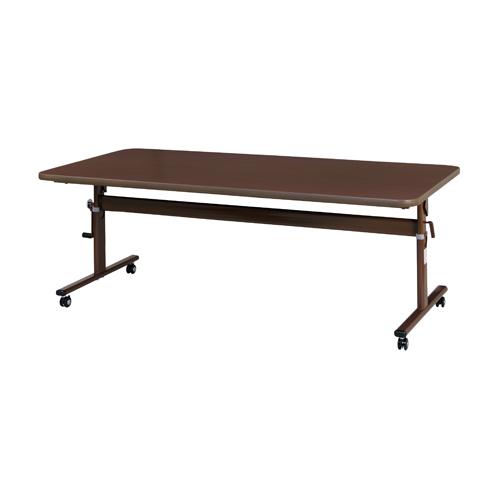 【法人限定】 抗ウイルス 昇降テーブル フォールディングテーブル 送料無料 幅1800×奥行900×高さ650~800mm 抗菌 福祉用リフトアップテーブル LF4-1890V
