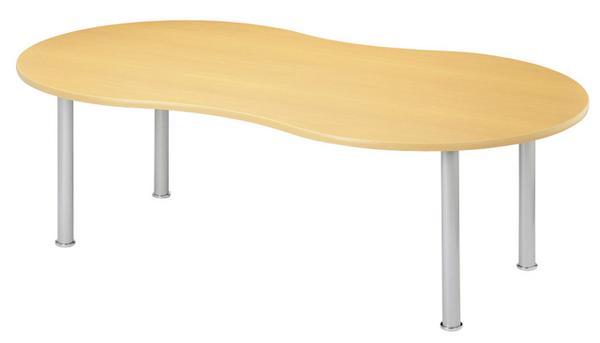 ★新品★ 会議テーブル MME-2212P ピーナッツ型 公共施設 机