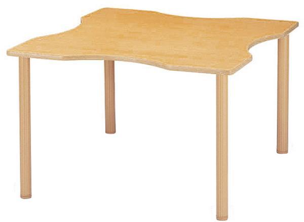 ラウンジテーブル FHO-1212Q 波型 車椅子 食事会 LOOKIT オフィス家具 インテリア