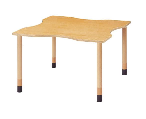 ダイニングテーブル FPA-1212Q 波型 車椅子 売れ筋 ルキット オフィス家具 インテリア
