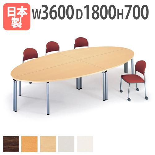 会議テーブルセット 円卓 レイアウト 楕円形 机 つくえ GK3 ルキット オフィス家具 インテリア