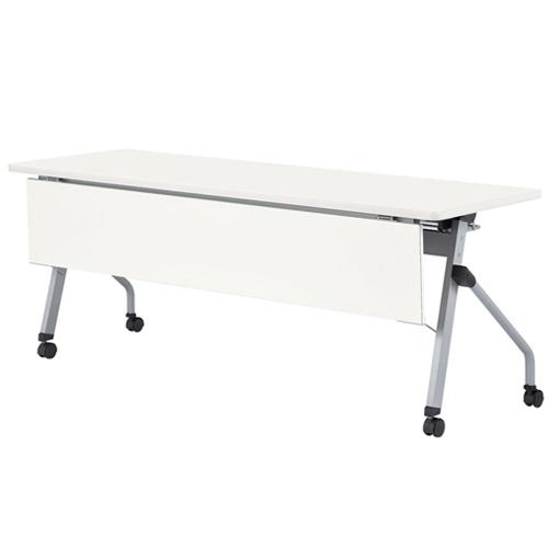 ★新品★ フォールディングテーブル 化粧板幕板付 HLS-1545HMP LOOKIT オフィス家具 インテリア