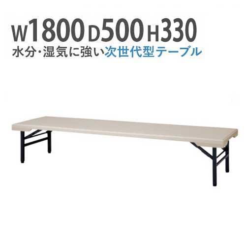 座卓 折りたたみ座卓 ローテーブル 折りたたみテーブル 会議テーブル 水に強い 180 50 折りたたみ 角型 軽い 長机 薄型 コンパクト 樹脂 軽量 PET-1850Z LOOKIT オフィス家具 インテリア