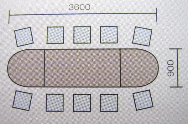 会議テーブルセット 特価 楕円形 会議スペース シンプル GK5 LOOKIT オフィス家具 インテリア