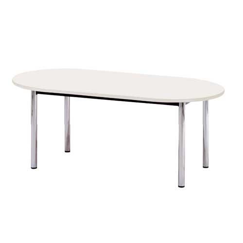ミーティングテーブル 木製 木材 楕円形 天板 BZ-1812R ルキット オフィス家具 インテリア