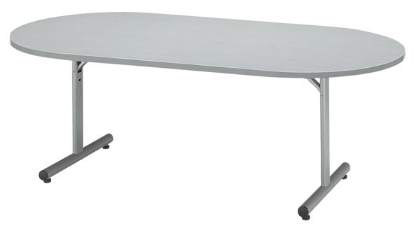 折り畳み会議用テーブル 楕円テーブル 受付用 T字脚 机 LOOKIT オフィス家具 インテリア