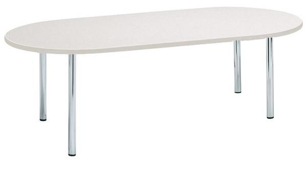 会議テーブル SHM-1875R 楕円 メッキ 店舗 事務所