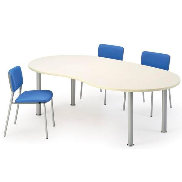 ★新品★ 会議テーブル MME-2212B ビーンズ型 打ち合わせ用 LOOKIT オフィス家具 インテリア