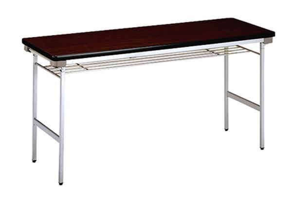 折り畳み会議テーブル KU-1545A 平机 アルミ 棚付 ルキット オフィス家具 インテリア