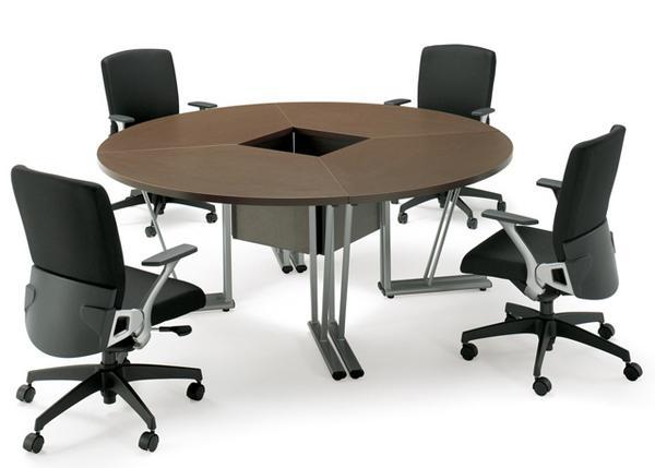 ★新品★ 会議テーブル EZR-6090RS 円形 丸型 セット 売れ筋