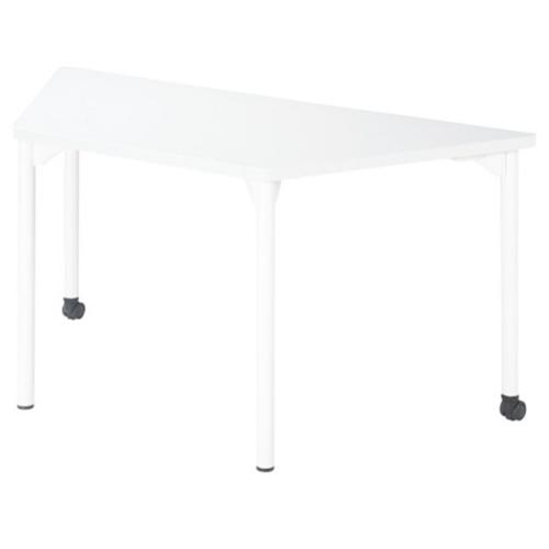 【5月11日20:00~18日1:59まで最大1万円OFFクーポン配布】ミーティングテーブル 幅1500mm 高さ700mm 台形 キャスター付き 会議テーブル 施設 オフィス 変形 組み合わせ 大型テーブル シンプル デスク EDL-1565DH