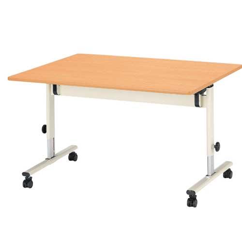 学校用テーブル 幅1200mm 奥行750mm ミドルタイプ 高さ調節 キャスター付き 会議テーブル 施設 オフィス 勉強机 昇降式 スタッキング 収納 学習机 ETJ-1275M