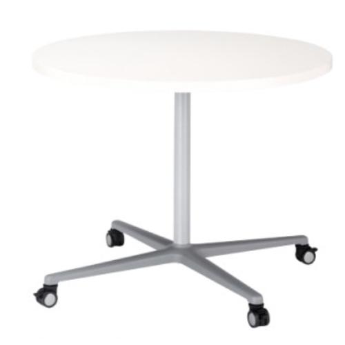 ラウンジテーブル 直径900mm 丸型 会議テーブル ミーティングテーブル ラウンジ 円形 円卓 キャスター付き サイドテーブル オフィス家具 シンプル GF-900R:LOOKIT オフィス家具 インテリア