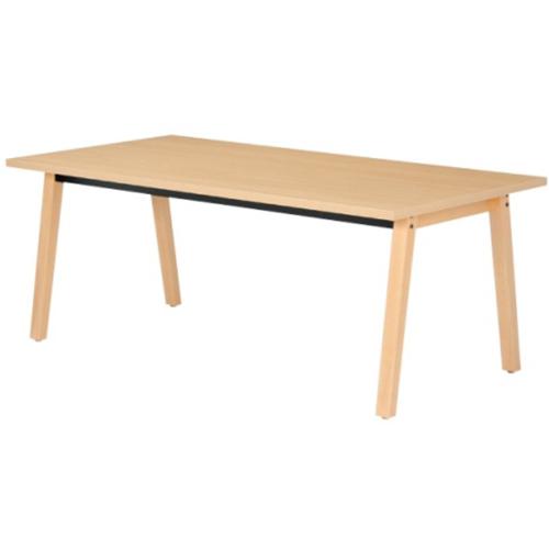 介護 福祉施設用 テーブル 幅1800mm 奥行900mm ABS樹脂エッジ ダイニングテーブル ミーティングテーブル ナチュラル 木製 北欧 食堂 ミーティング HZ-1890J