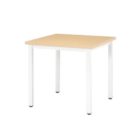 ミーティングテーブル 幅750mm 奥行750mm 正方形 会議テーブル 角型 シンプル オフィステーブル ランチテーブル 作業テーブル オフィス家具 EK-7575