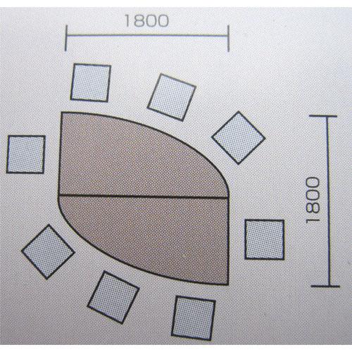 会議テーブルセット 会議用 会議室 デザイン 多人数用 GK2 LOOKIT オフィス家具 インテリア