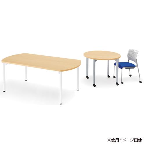 【最大1万円OFFクーポン配布7月4日20:00~11日1:59まで】ミーティングテーブル 幅1800mm 奥行900mm オーバル型 アジャスター付き 会議テーブル オフィス 楕円型テーブル オフィス家具 MDL-1890V