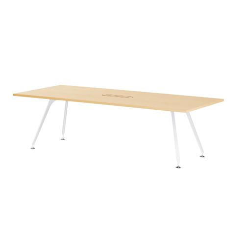 会議テーブル 幅2400mm 奥行1200mm 配線ボックス付き ミーティングテーブル 会議室 オフィス 大きい 広い ワイヤリングボックス オフィステーブル SPD-2412W