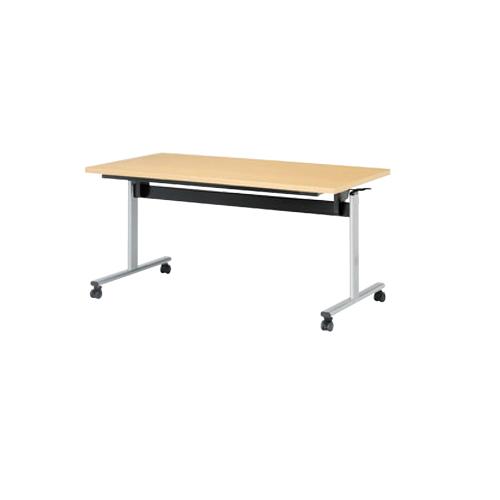 【最大1万円クーポン5/20限定】ミーティングテーブル 幅1500mm 奥行750mm 中折式 角型 折りたたみ 会議テーブル キャスター 棚付き キャスター付きテーブル オフィステーブル TOV-1575K