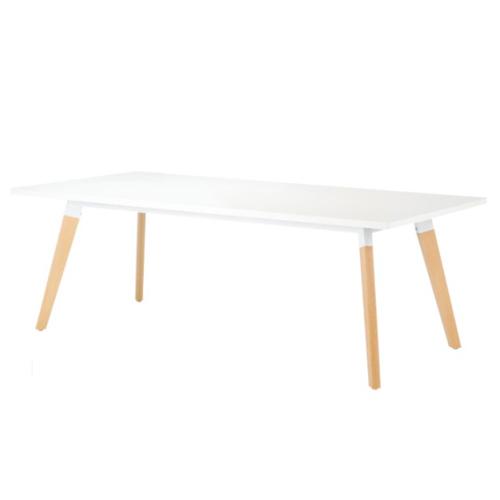 介護 福祉施設用 テーブル 幅2100mm 奥行1000mm 角型 ダイニングテーブル ミーティングテーブル シンプル 会議 北欧 木製 大型テーブル オフィス SLA-2110K