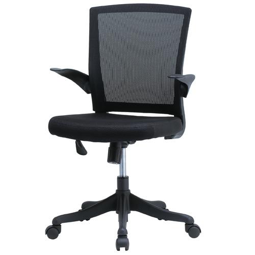 オフィスチェア メッシュチェア パソコンチェア 椅子 メッシュチェアー おしゃれ ブラック 肘付き デスクチェア メッシュ チェア 事務椅子 オフィス家具 FEM-14A