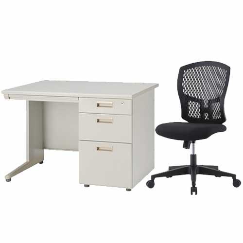 デスク チェア セット 布張り 机 イス IDS-107-3SC-8 LOOKIT オフィス家具 インテリア