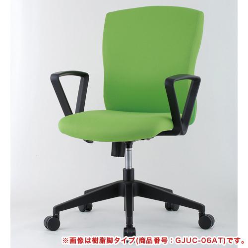 【法人限定】 デスクチェア 肘付き メッキ脚 オフィス JUC-06MAT LOOKIT オフィス家具 インテリア